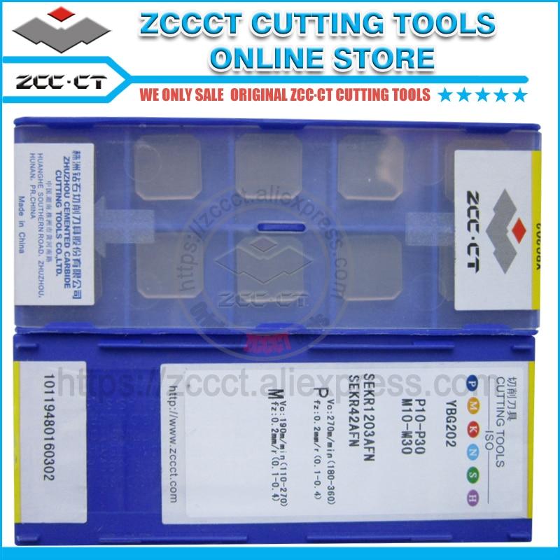 10pcs ZCCCT Milling Cutter SEKR1203AFN YBG202 ZCC Mill Inserts Cnc Metal Machinery Part For Medium Cut