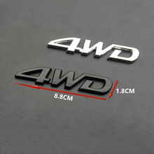 שדרוג 4WD מילות מדבקות לרכב מתכת קישוט עבור טויוטה RAV4 קורולה היברידי Avensis יאריס טונדרה כתר אביזרים חיצוניים