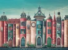 Nova Puzzle 46010 - 2000 sztuka magiczna fantastycznych książek dla dorosłych Puzzle Jigsaw-kwitnienia balkon budynków unikalne ulicy