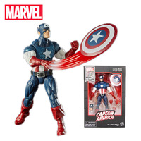 2019 17cm Marvel Comics 80th Anniversary Legends Series Vintage Comic Inspired Captain America PVC Action Figure Toy Collectible