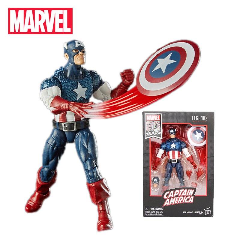 2019 17cm Marvel Comics 80th anniversaire légendes série Vintage bande dessinée inspiré Captain America PVC figurine jouet à collectionner