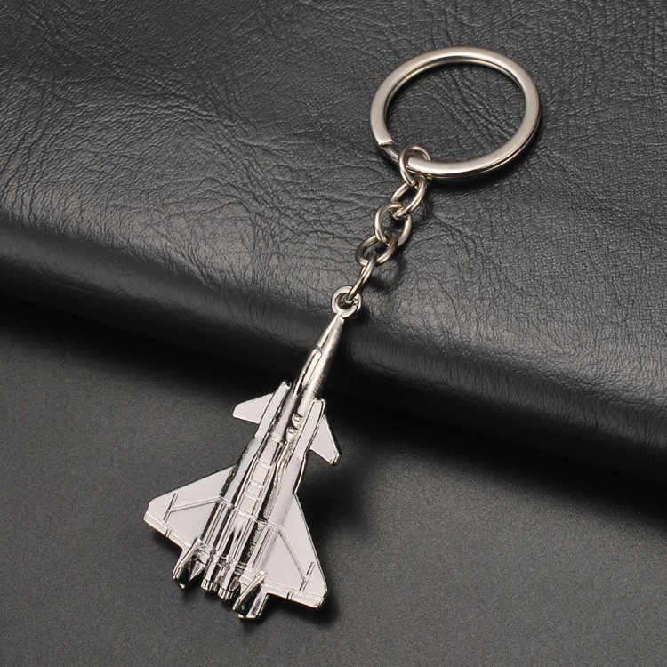 Nieuwe Helicopter airliner Combat vliegtuigen vliegtuig sleutelhanger Vrouwen Tas Hangend Key ringen Sieraden Mannen Auto Sleutelhanger sieraden