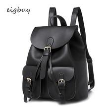 Girl Bagpack Designer Classic Student Pu Solid Zipper Black Preppy Style School Backpacks For Teenagers Mochilas Bookbags