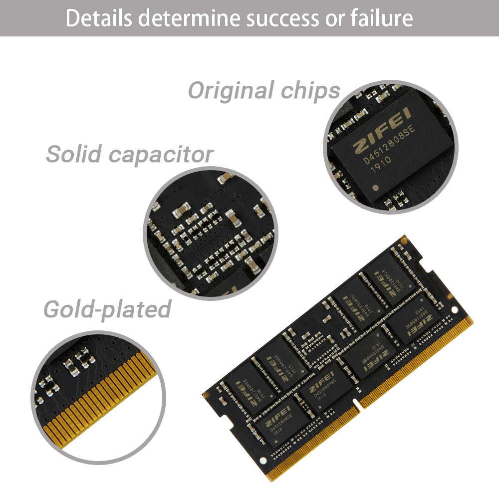 ZIFEI DDR4 8GB 4GB 16GB 32GB 2133 2400 2666 MHz so dimm SDRAM ذاكرة عشوائية RAM الكمبيوتر المحمول