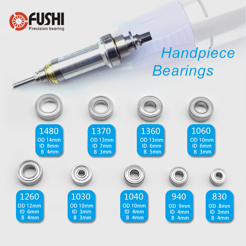 Electric Nail Drill Machine Bearing MR148zz MR126zz MR106zz MR104zz 623zz 693zz 684zz 10PCS Dental Grinding Handle Ball Bearings
