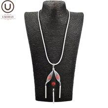Ukebay новые жемчужные ожерелья с кулоном женские длинные цепочки