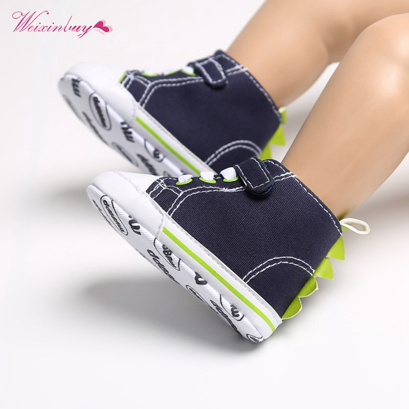 Middle Tube Toddler Kids Canvas Solid Sneakers Baby Boy Girl Soft Sole Crib First Walker Shoes Anti-slip Lovely 0-18Months