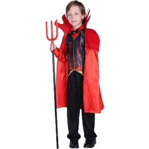 Image 4 - Umorden مخيف الأحمر القرن الشيطان Devilkin ازياء للأطفال طفل بنين بنات شيطان زي تأثيري فستان بتصميم حالم رداء هالوين