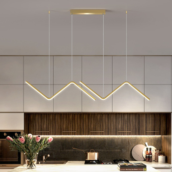 LED Modern Simple Chandelier Restaurant Bar Black/Gold Long Pendant Lamp Dining Room Coffee Shop Round Rings Hanging Light modern lamps pendant lights aluminum lamp restaurant bar coffee dining room led hanging light fixture