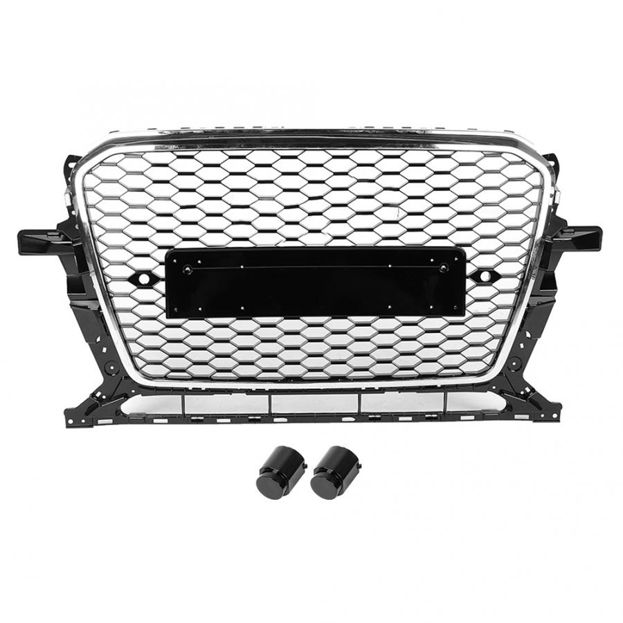 For <font><b>SQ5</b></font> Style Car Front Bumper Mesh Grille <font><b>Grill</b></font> for <font><b>Audi</b></font> <font><b>Q5</b></font>/<font><b>SQ5</b></font> 8R 2013 2014 2015 2016 2017 Car-styling image