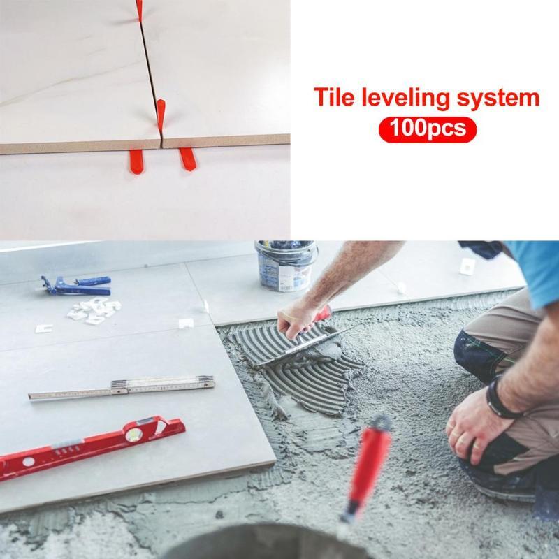 100pcs Level Wedges Tile Spacers For Flooring Leveler Spacers Leveling System  For Elastic Adjustment Of Ceramic Tile Crevice
