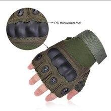 Тактические перчатки без пальцев, армейские перчатки, перчатки для стрельбы, для мотоцикла, езды на велосипеде, скалолазания, пешего туризм...