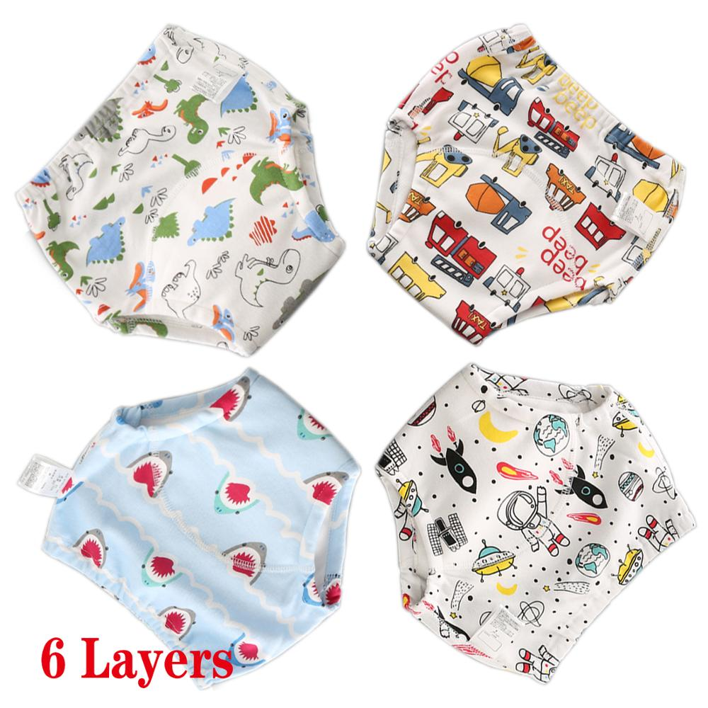 Cotton Toddler Training Pants Reusable Diapers For Newborn Cloth Nappies Toddler Potty Training Underwear For Boys And Girls