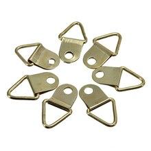10/40/50/100 PcsGolden изображение Вешалки латунь Треугольники фоторамка настенное крепление вешалка крючок кольцо Железный