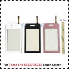 """คุณภาพสูง 3.0 """"สำหรับSamsung Galaxy Tocco Lite S5230 S5233 Touch Screen Digitizerเซ็นเซอร์กระจกเลนส์ด้านนอกแผง"""