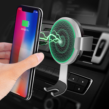 10W Car Wireless Charger For iPhone XS Samsung S9 Phone Fast Wirless Charging USB Holder