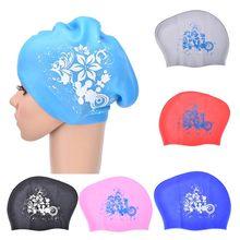 Boné de natação de silicone para o cabelo longo feminino à prova dwaterproof água natação bonés senhoras mergulho capuz chapéu para crianças garras natacion casquette
