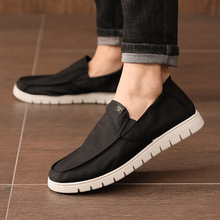 XM20 Xinqing casual men's shoes driving non-slip heel shoes spring and summer elastic band cloth shoes