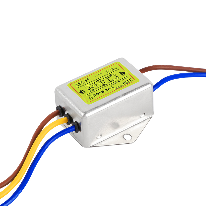 Anti-interference AC 115V 230V power supply filter EMI line audio purifier CW1B-L 1A 3A6A10A