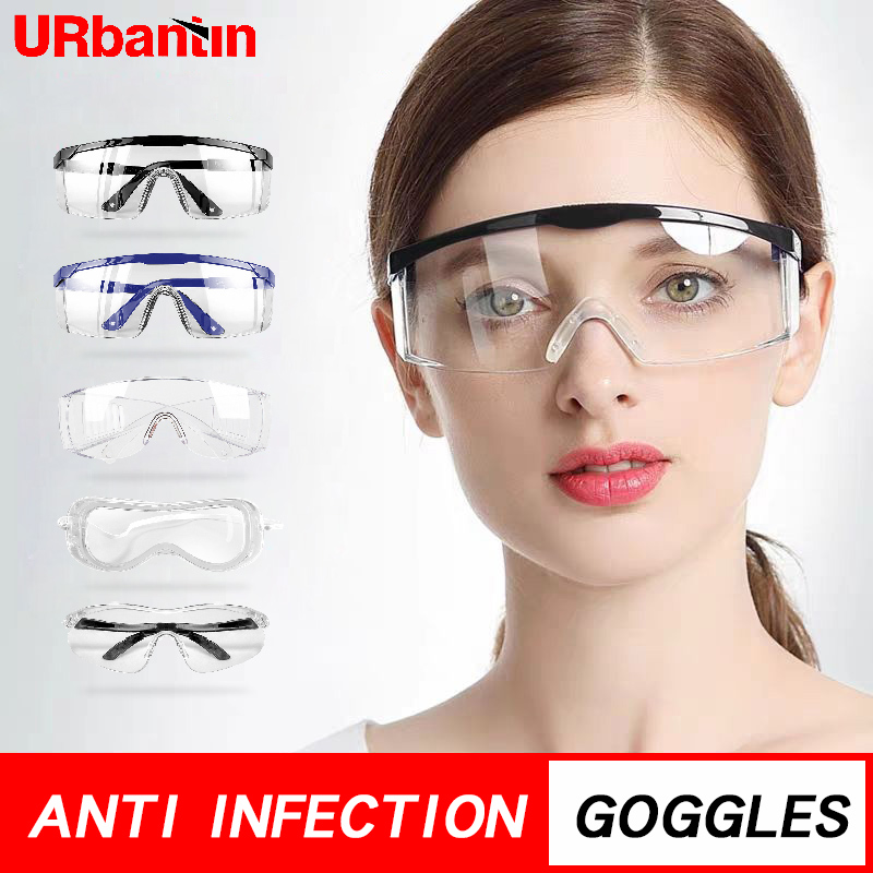 Clear Anti Dust Safety Glasses Eye Protective Goggle Anti Pollution Anti-splash Spectacles For Factory Lab Working Eyewear
