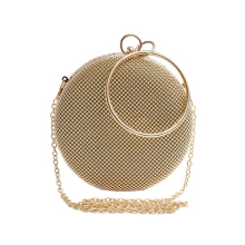 цена Women's Bag Gold Gillter Handbag Clutch Rose Female Shoulder Bags Wedding Evening Women Clutch Round Bag Purses And Handbags онлайн в 2017 году
