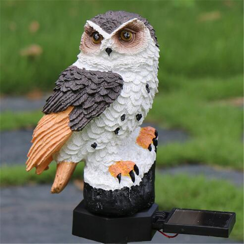 Garden Decoration Lights 1 Piece Owl Solar Light LED Panel Waterproof  Outdoor Yard Lamps
