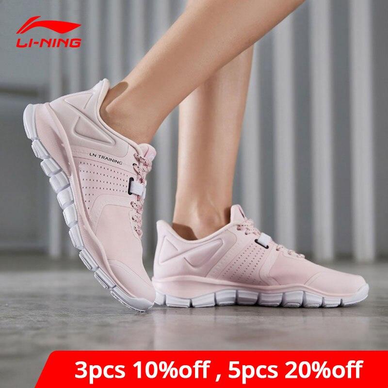 Li-Ning Women 24H Flexible Training Shoes Split Upper Breathable LiNing Li Ning Light Sport Shoes Sneakers AFHP002 YXX051
