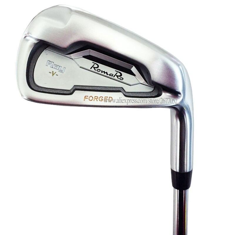 Mew Golf Clubs RomaRo Ray V Golf Irons 4-9P Irons Set Clubs Steel Shaft R Or S Flex Golf Shaft Cooyute Free Shipping