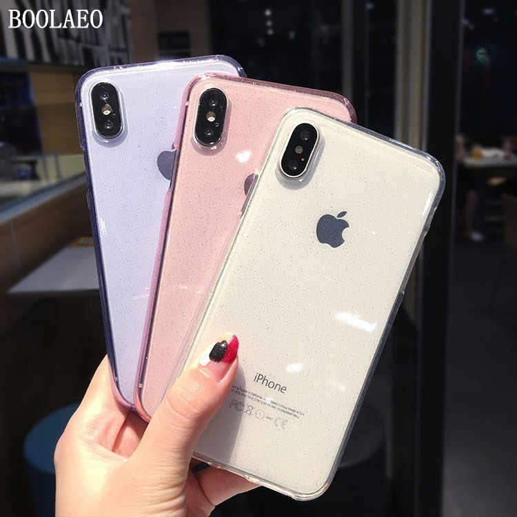 Luxe Clear Silicone Case Voor iphone 7 8 6 6s Plus 8Plus Transparante Telefoon Case o iphone X XS MAX XR 10 11 funda Soft TPU Cover