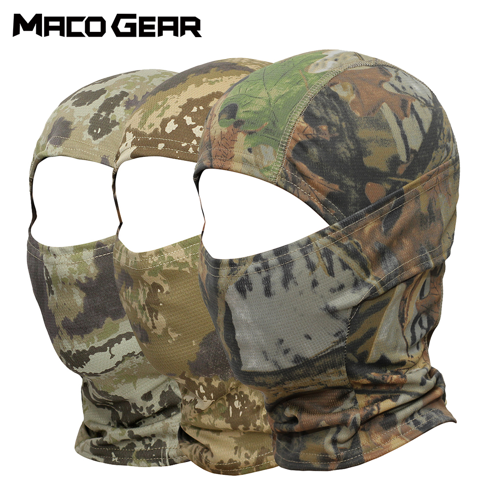 Outdoor Camouflage Tactical Balaclava Full Face Mask Bicycle Hunting Cycling Army Sport Bike Military Liner Paintball Ninja Cap