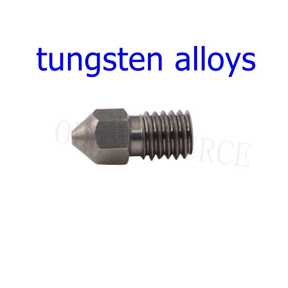 Buse d'alliage de tungstène d'extrudeuse de la mise à niveau M6 d'imprimante 3D, 0.4mm pour l'utilisation d'imprimante 3D d'extrudeuse de Titan d'hotend de 1.75mm V6