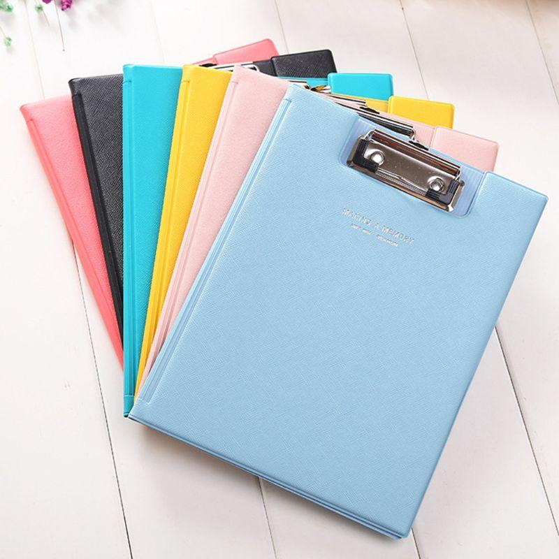 A5 Waterproof Clipboard Writing Pad File Folder Document Holder School Office Stationery Supply Random Color