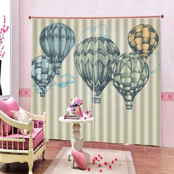 Customized size Blackout 3D Window European 3D Curtains Hot air balloon design Curtains For Living Room Bedroom