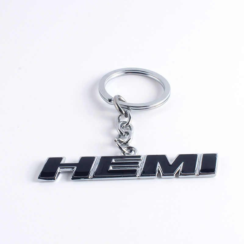 3D 金属車のキーリングエンブレムのバッジキーホルダー HEMI ロゴタグ RAM 1500 2500 3500 ための銘板ジープダッジ · チャレンジャー車アクセサリー
