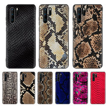 Pink Leather Snake Black Cover Phone Case For Huawei Mate 30 20 10 P30 P20 P10 Pro Lite P Smart Z 2019 Luxury Coque Shell(China)
