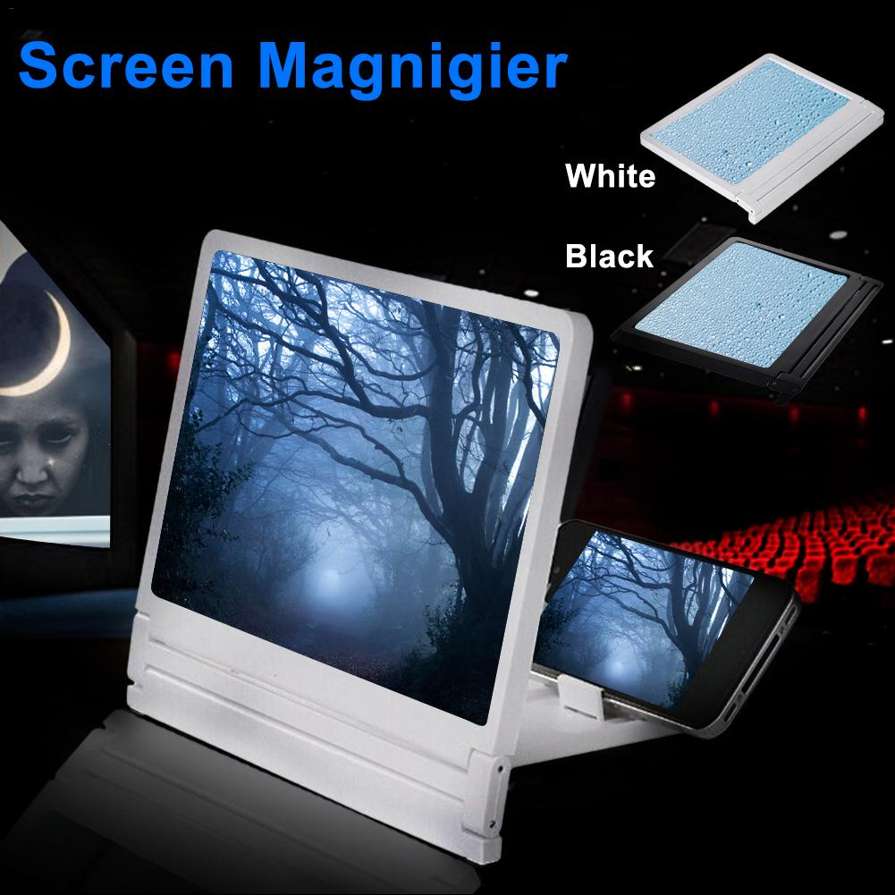 Mobile Phone Screen Magnifier Eyes Protection Display 3D Video Screen Amplifier Folding Enlarged Expander Stand