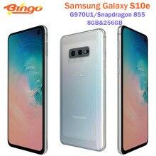 Samsung Galaxy S10e G970U1 256GB G970U sekiz çekirdekli Snapdragon 855 LTE Android cep telefonu 5.8