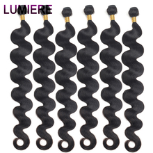 Lumiere 32 34 36 40 Inchs Peruvian Body Wave Human Hair Weave Bundles Top Quality Double Weft 1/3/4 Bundles Remy Hair Extension