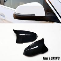 M Style Carbon Fiber&Gloosy Black Mirror Cover For BMW 5 Series F10 2014 +Rear Side View caps Mirror Cover LCI F10 520i 528i|Mirror & Covers|   -