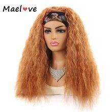 Maelove синтетический парик кудрявый прямой с повязка под блонд