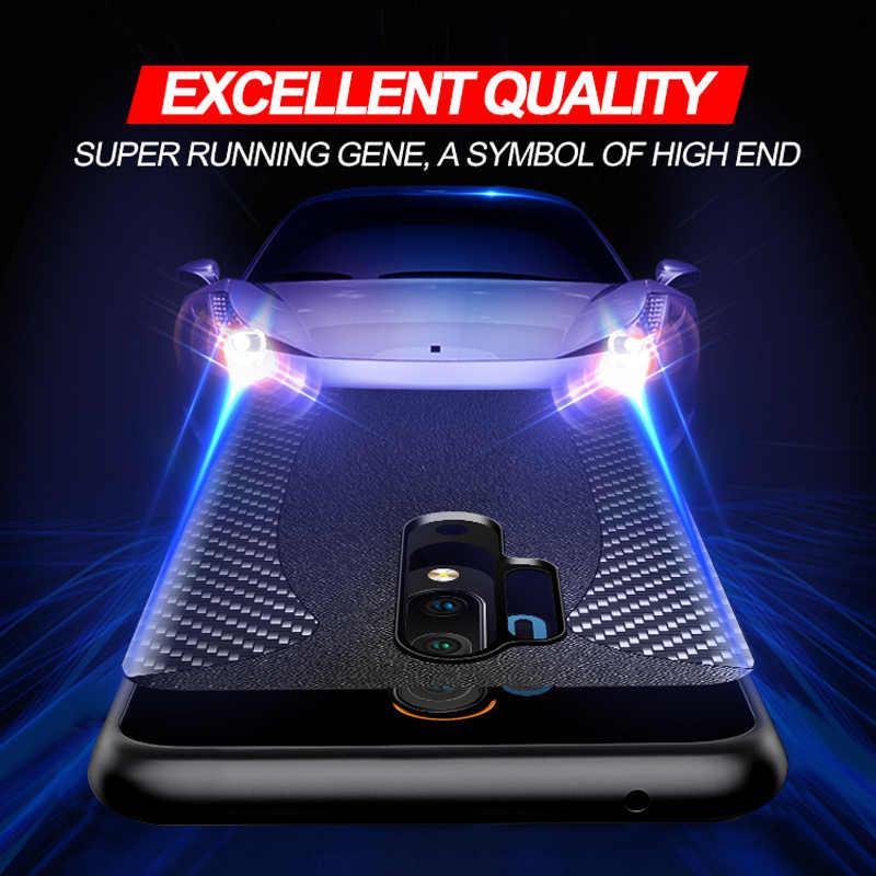 OnePlus için 8 Pro orijinal karbon Fiber hakiki deri spor araba darbeye dayanıklı koruyucu kapak Oneplus 6 için 7 8 T pro