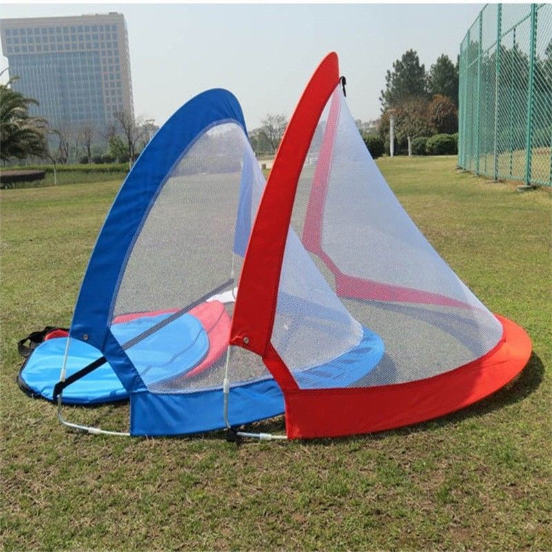 1 Piece Foldable Football Net Goal Gate Extra-Sturdy Soccer Ball Practice Gate Children Students Soccer Goal