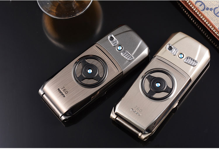 Флип-телефон 760 полностью Металлическая Модель автомобиля ключ дизайн форма интернет электронная книга роскошный мобильный телефон для пожилых
