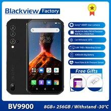 Smartphone Blackview BV9900 8GB + 256GB Helio P90 Octa Core IP68 Robusto Telefono Cellulare Android 9.0 48MP Quad fotocamera NFC