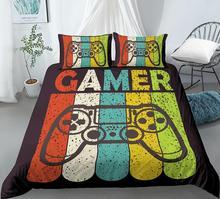 2 3 sztuk dla graczy Gamer zestaw poszewek Cartoon pościel dla dzieci chłopcy dziewczęta łóżko-zestaw gry kapa na kołdrę pokrowiec na pierzynę dla graczy Gamer zestaw pościeli tanie tanio Brak Zestawy Kołdrę Tkanina z mikrofibry 1 0 m (3 3 stóp) 1 2 m (4 stóp) 1 35 m (4 5 stóp) 1 5 m (5 stóp) 1 8 m (6 stóp)