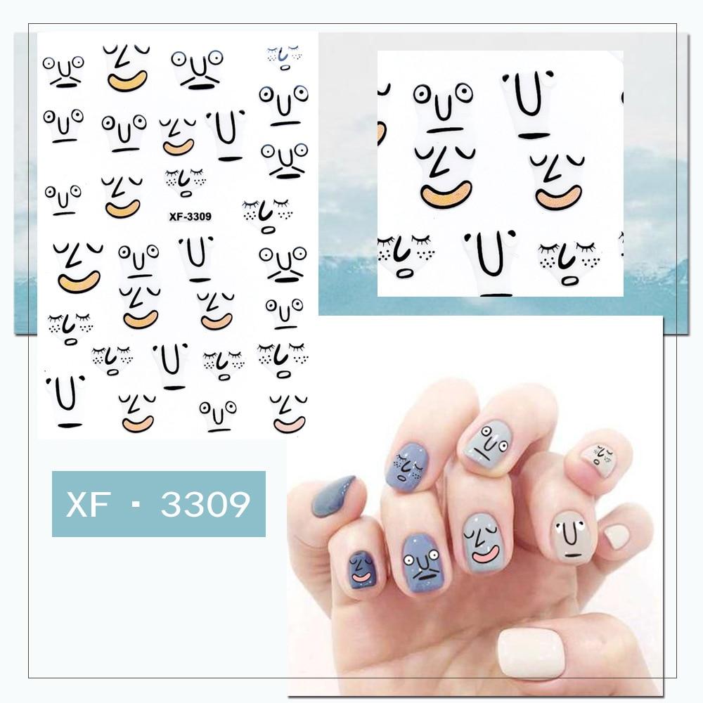 Купить наклейки для ногтей morixi с рисунками из мультфильмов женщин