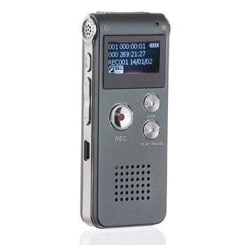 8 GB/16 GB Voice Recorder LCD Bildschirm Wiederaufladbare Digitale Audio Sound Aufnahme MP3 Player