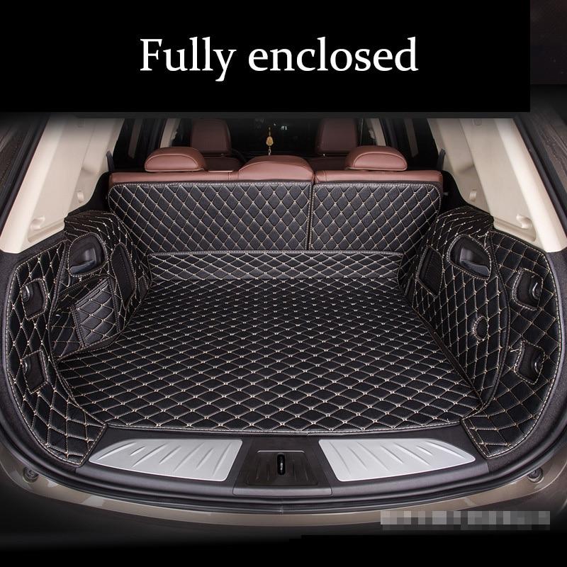 Custom leather Car Trunk Mats For Alfa Romeo Stelvio 2017 2017 2018 Giulia 2017 2018 Waterproof Car Cargo Rear Boot Liner|  - title=