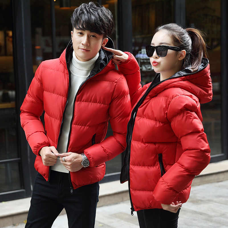 אופנה חורף מעיל גברים חמים עבים קצר סלעית מעילי מעילי נשים זוג חורף מעיילי 8039