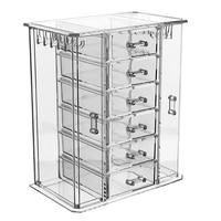 Transparent Cosmetics Storage Box Multilayer Drawer Skin Care Finishing Dresser Lipstick Collection